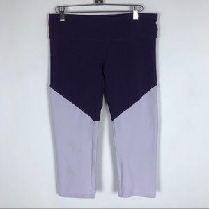 Alo Yoga Leggings Colorblock Crop Athletic Pants